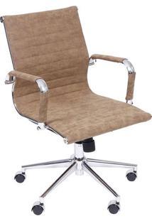Cadeira Office Eames Retrã´ Esteirinha- Caramelo & Prateaor Design