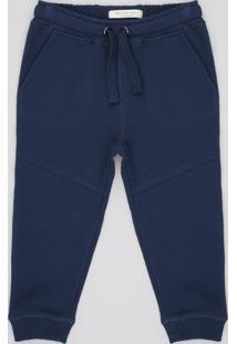 Calça Infantil Canelada Com Bolsos Azul Marinho
