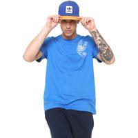 e521e9d1bc290 Camiseta Adidas Originals Reta Logo Azul