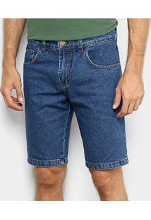 Bermuda Jeans Forum Paul Slim Masculina - Masculino-Azul