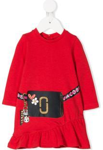 Little Marc Jacobs Vestido Com Estampa - Vermelho