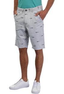 Bermuda Sarja Masculina - Masculino-Cinza