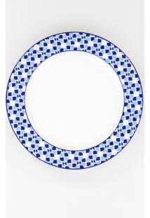 Conjunto De Pratos Para Sobremesa Porcelana Schmidt 06 Peças - Dec. Athena