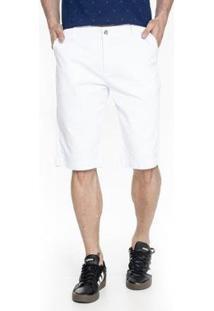 Bermuda Sarja Lemier Collection Slim Color Get Fashion Masculina - Masculino-Branco