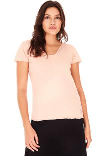 Camiseta Side Walk Tênis Saara Rosa