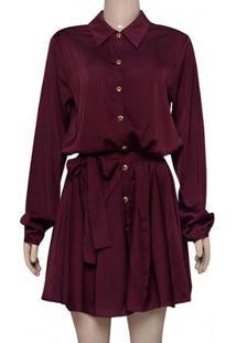 Vestido Fem Moikana 180194 Bordo