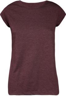 Camiseta Feminina Manga Curta Vinho