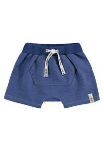 Bermuda Jeans Azul Escuro Luc.Boo