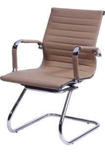 Cadeira Office Eames Esteirinha Fixa Caramelo Or Design