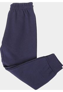 Calça Infantil Kyly Com Punho Masculina - Masculino-Azul