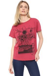 Camiseta Forum Estampada Rosa