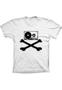 Camiseta Baby Look Lu Geek Fita Caveira Branco