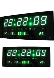 6df593b81ef Relogio Digital Alarme De Led Verde Com Data Termo (Bsl-Rel-58)
