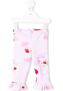 Lapin House Legging Com Estampa Floral - Rosa