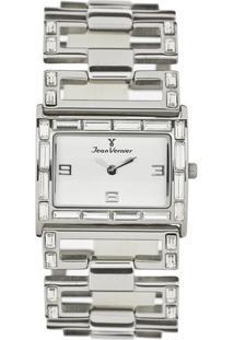 Relógio Analógico Jv01258- Prateado & Branco- Jean Vjean Vernier
