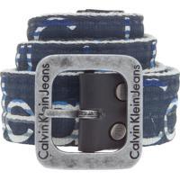 Cinto Calvin Klein Listras Azul-Marinho 580731f1a5b27
