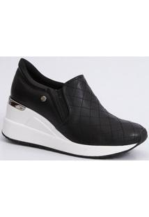 Tênis Feminino Sneaker Plataforma Slip On Via Marte