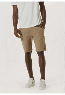 Bermuda Masculina De Sarja Com Cadarço Marrom