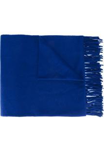 Etudes Cachecol Com Franjas - Azul