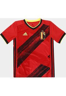 Camisa Seleção Bélgica Infantil Home 20/21 S/Nº Adidas - Masculino