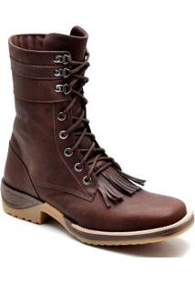 Bota Top Franca Shoes Texana - Masculino-Marrom