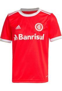 Camisa Infantil Adidas Internacional 2020 S/N Vermelho/Branco - Pp