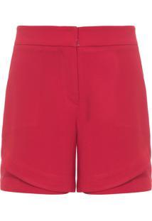 Short Feminino Crepe - Vermelho