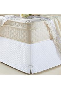 Saia Para Cama Box Decorativa Queen Size Veneza Branco - Branco - Dafiti
