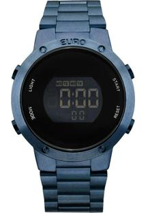 Relógio Euro Metal Trendy Eubj3279Ac/4A Digital - Feminino-Azul