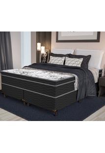 Colchão Queen Pillow Top Floral Shade- Pelmex - Branco / Black