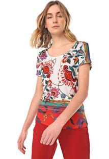 Camiseta Desigual Leonor Branca - Kanui
