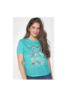 Camiseta Cantão Slim Plant Lady Verde