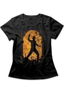 Camiseta Indiana Jones Feminina - Feminino-Preto