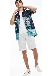 Bermuda Lacoste Slim Fit Cinza