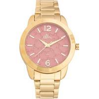 28e233f1a32 Kit Relógio Feminino Allora Analógico Al2036Fgt K4 - Unissex-Dourado