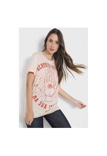 Camiseta Colcci Intuição Bege