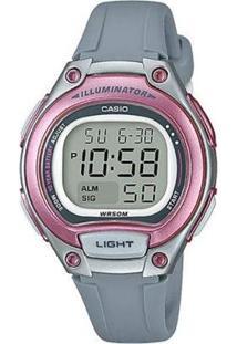 Relógio Feminino Casio Digital - Lw2038Avdf - Unissex-Cinza