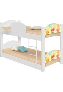 Beliche Infantil Fazendinha Animais Casah - Branco/Multicolorido - Dafiti