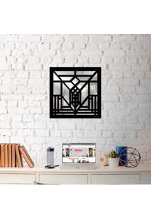 Escultura De Parede Wevans Abstrato + Espelho Decorativo