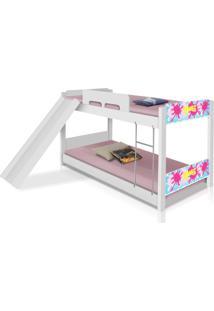 Beliche Baixa Com Escorrega Slime Menina Casah - Branco/Multicolorido - Menina - Dafiti