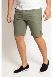 Bermuda Sarja Aleatory Hard Masculino - Masculino-Verde