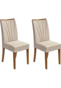Conjunto Com 2 Cadeiras Apogeu Lll Rovere E Bege