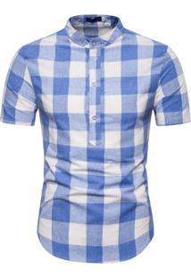 Camisa Xadrez Galway - Azul P