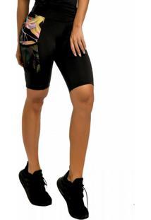 Bermuda Fitness Kalini Beachwear Ciclista - Antúrio
