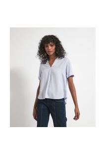 Camisa Manga Curta Com Abotoamento Nas Costas | Marfinno | Branco | P