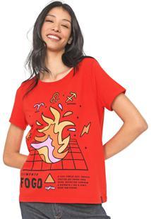 Camiseta Cantão Fogo Vermelha