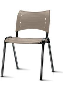 Cadeira Iso Assento Bege Base Preta - 54033 - Sun House