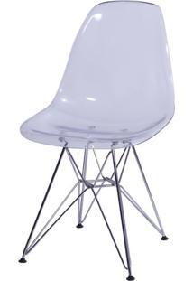 Cadeira Eames Policarbonato Incolor Base Cromada - 15290 - Sun House