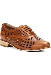 5f6568a2da Oxford Couro Shoestock Lasercut Feminino