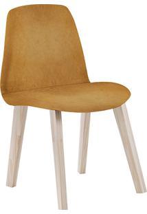 Cadeira Pinha F90 Veludo – Daf Mobiliário - Dourado